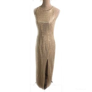 Vintage Sequin gold disco gown